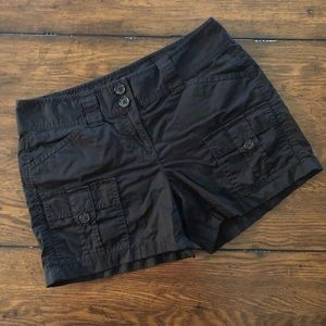 Ann Taylor Signature Fit Ladies Black Cargo Shorts